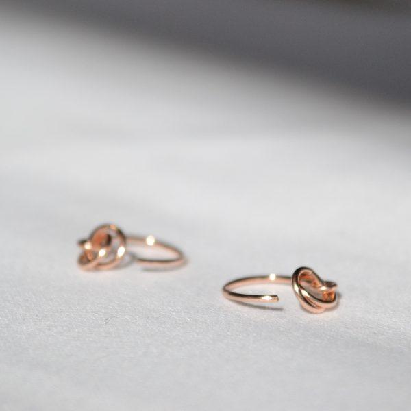 rose gold alto earrings