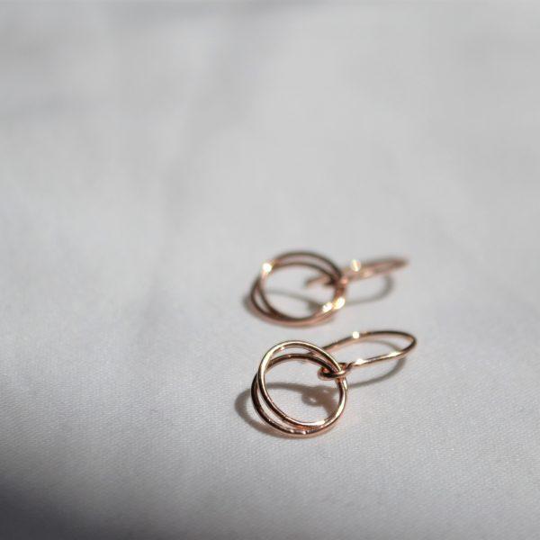 rose gold serenade earrings