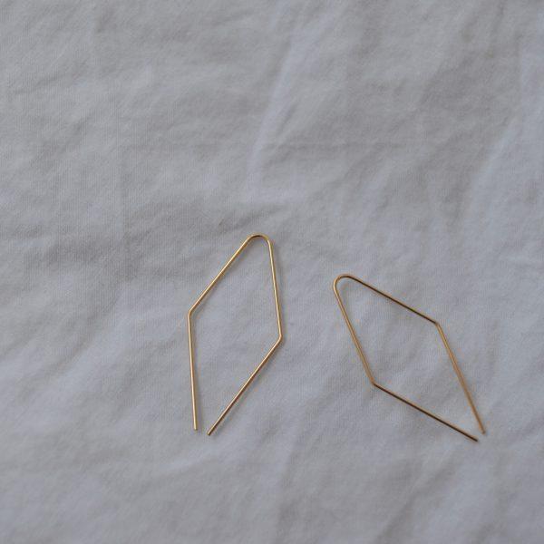gold jill earrings