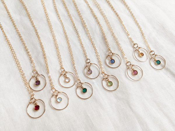gold gem necklaces