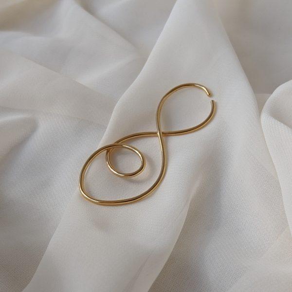 gold prevail ear cuff