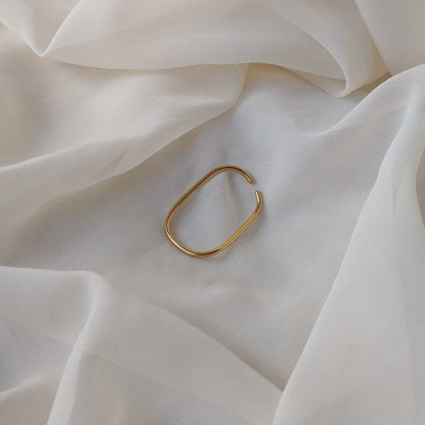 gold eternal ear cuff