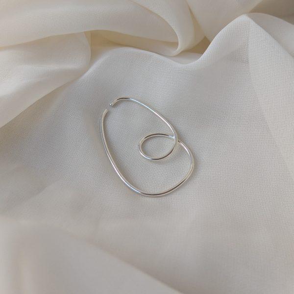 silver divinity ear cuff