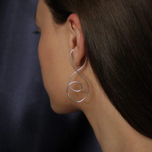 silver prevail ear cuff on model