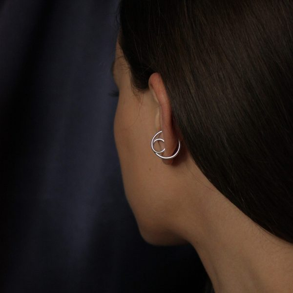 silver elevate ear cuff on model