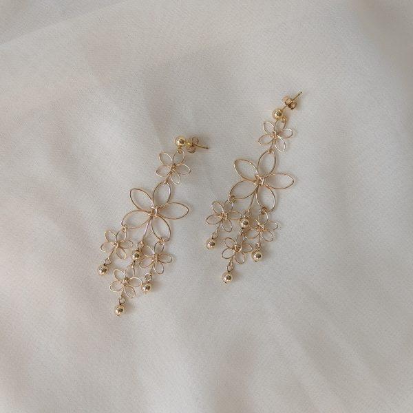 sunflower earrings gold