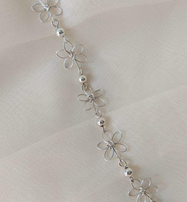 carnation bracelet silver