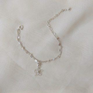 sea lavender bracelet silver