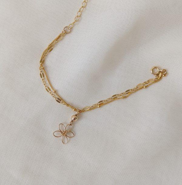sea lavender bracelet gold