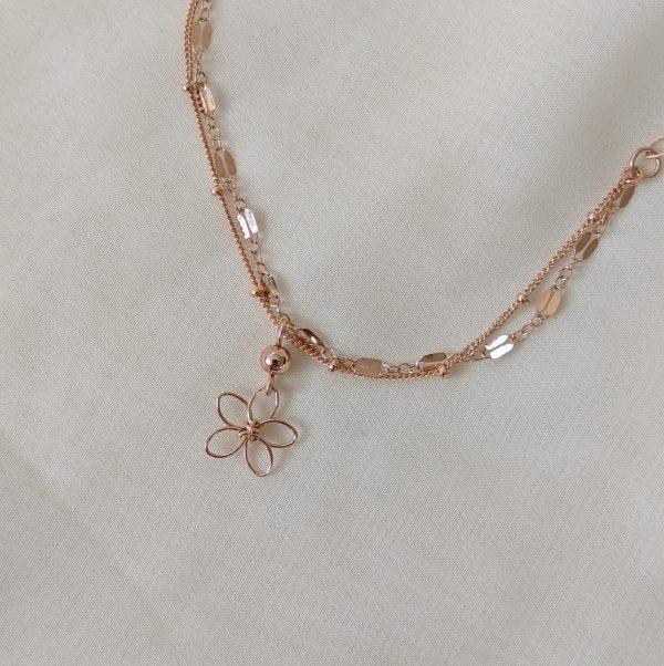 sea lavender bracelet or anklet rose