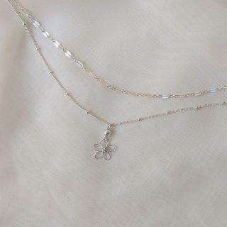 sea lavender necklace silver