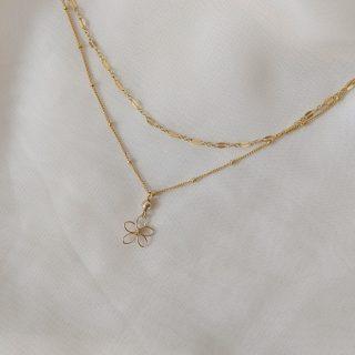 sea lavender necklace gold