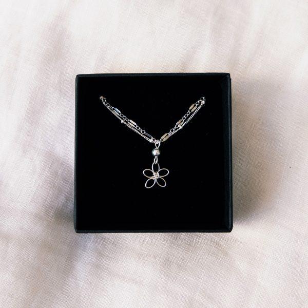 sea lavender bracelet or anklet in box