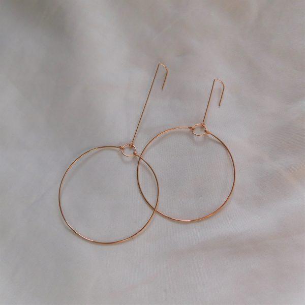 rose gold mixed terrestrial earrings