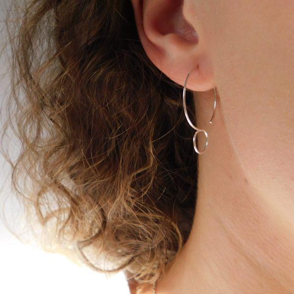 model wearing eurydice earrings