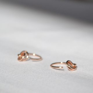 rose gold alto earrings