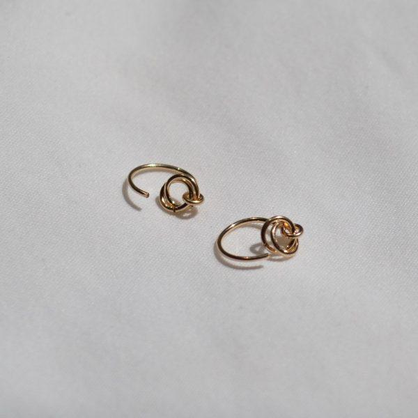gold alto ear hugger earrings