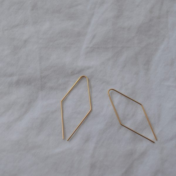 gold jill earrings