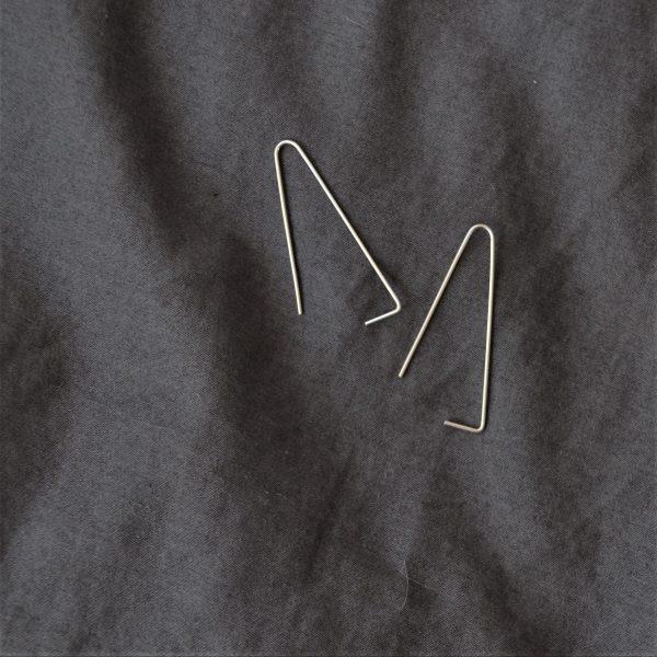silver leanne earrings