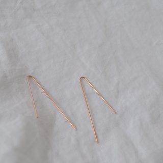rose gold emma earrings