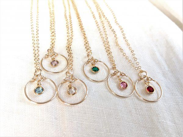 five gem necklaces