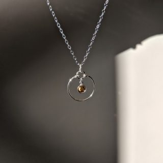 Topaz silver gem necklace