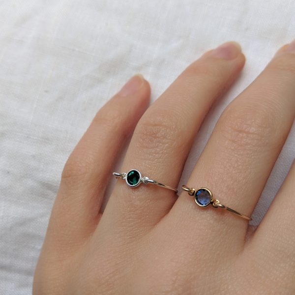 emerald and sapphire rings