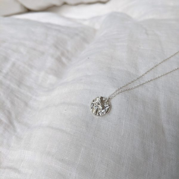 Tide pool necklace silver