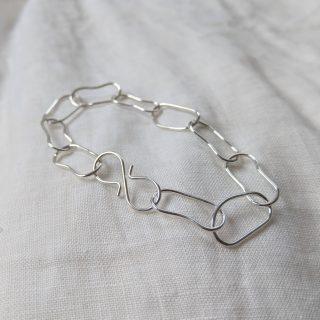 Droplet bracelet silver