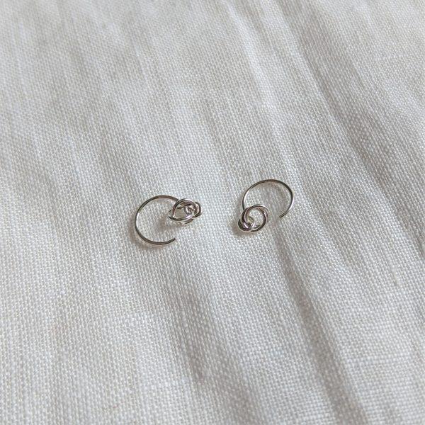 silver alto earrings