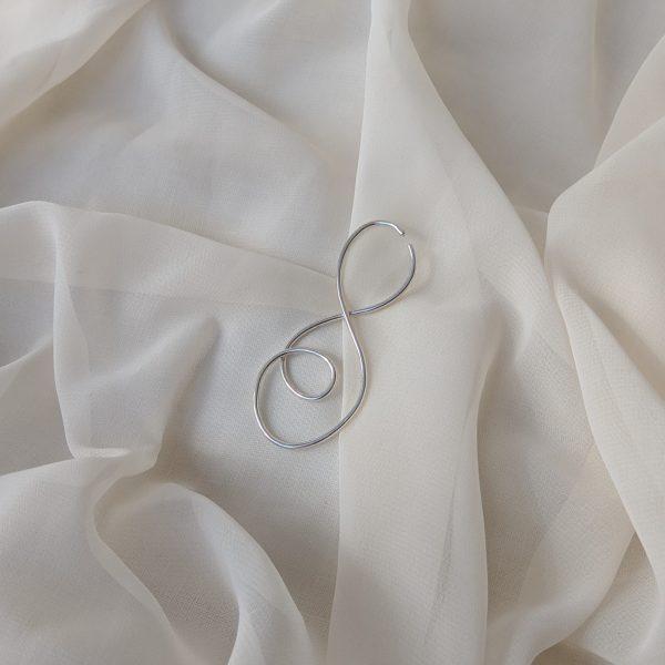 silver prevail ear cuff
