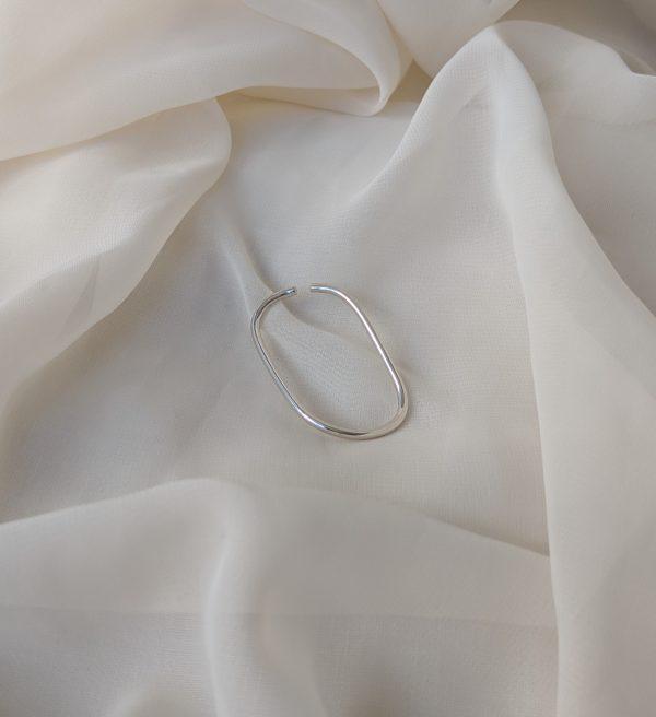 silver eternal ear cuff
