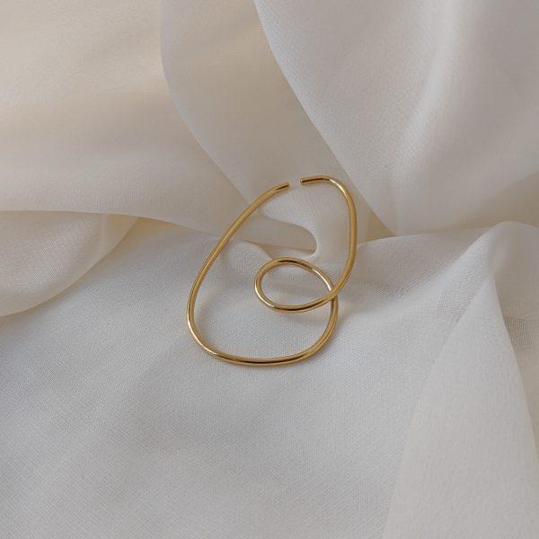 gold divinity ear cuff