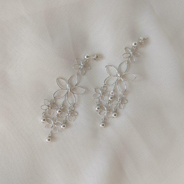sunflower earrings silver
