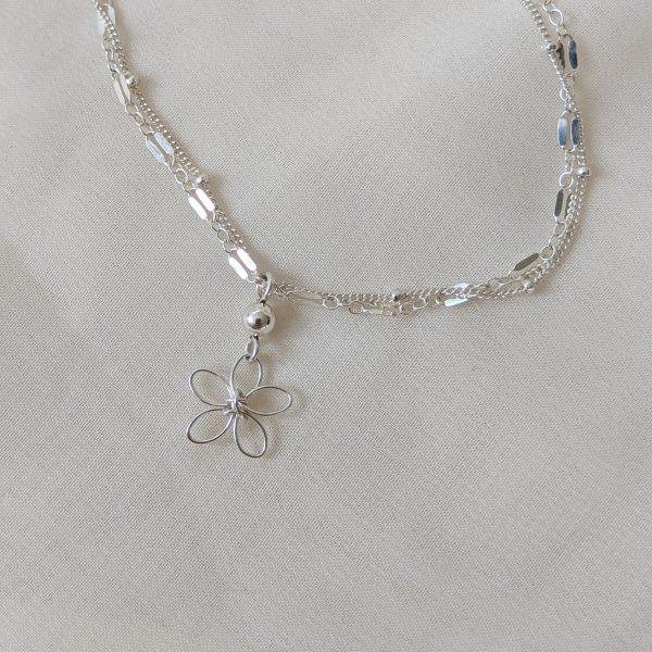 sea lavender bracelet or anklet silver