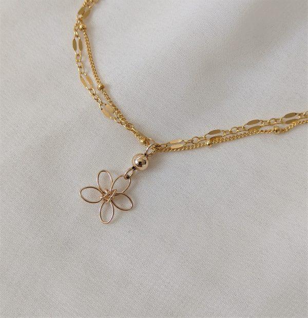 sea lavender bracelet or anklet