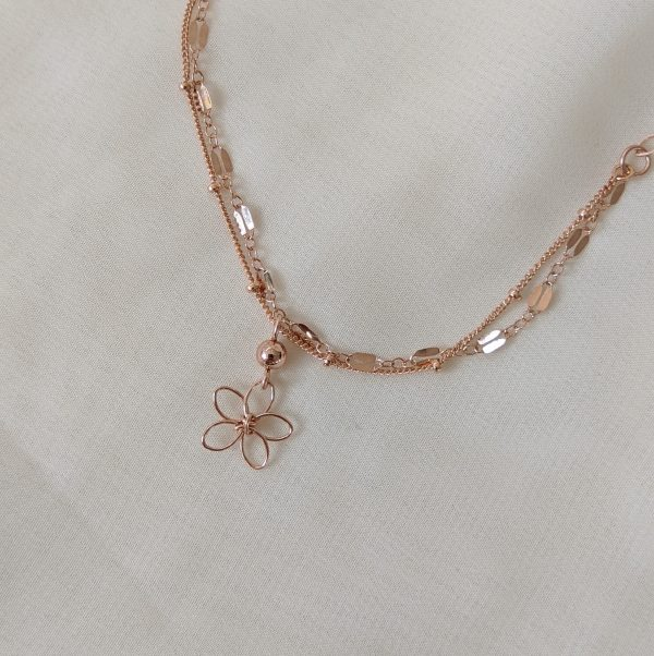 sea lavender bracelet or anklet rose