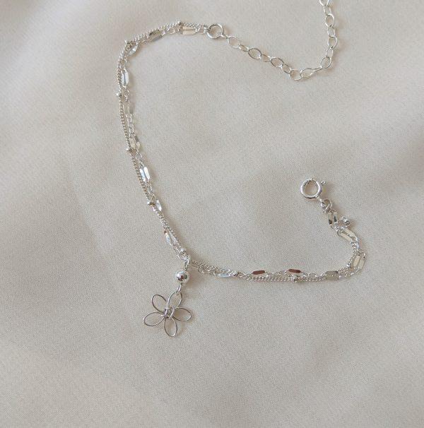 sea lavender anklet silver
