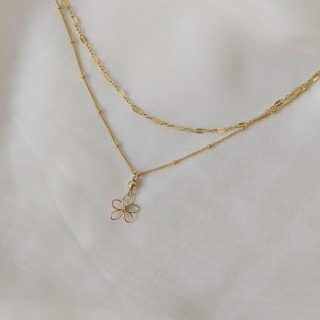 sea lavender necklace gold