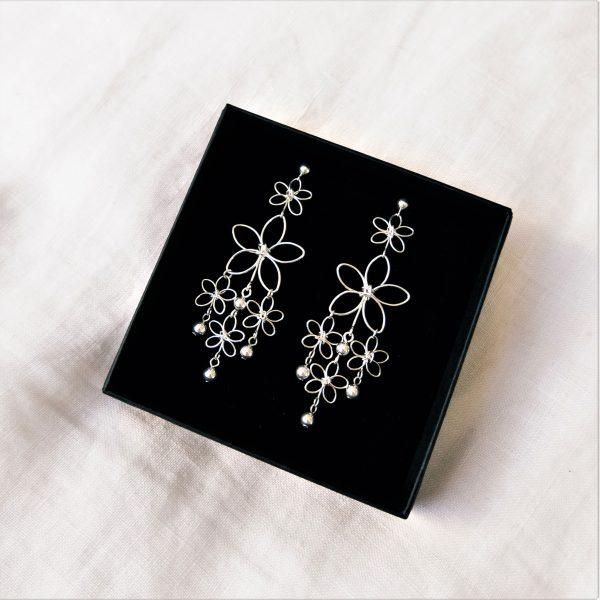 sunflower earrings in box