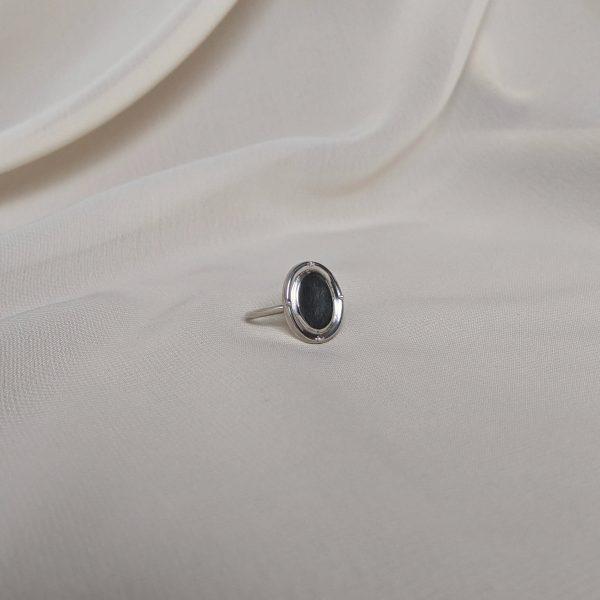 silver portrait ring
