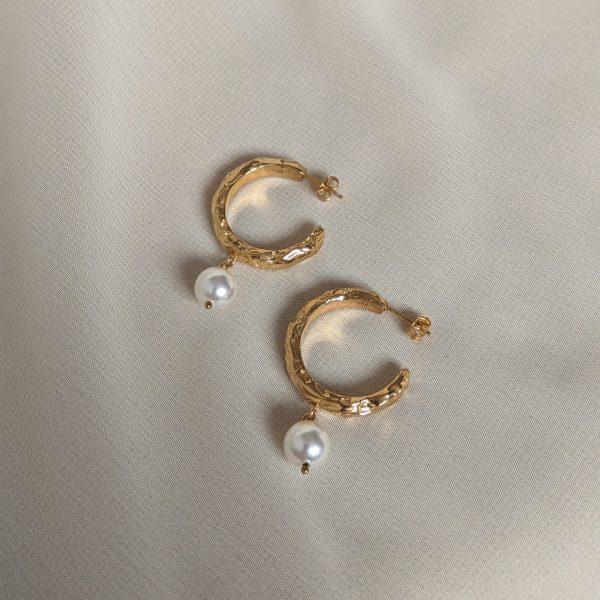 gold heirloom earrings