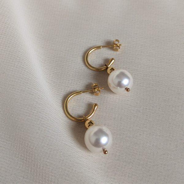 gold ornate earrings