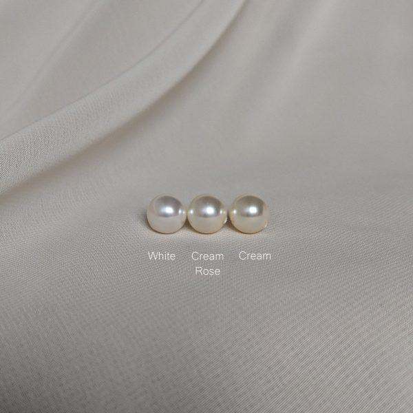 white versus cream rose versus cream pearl colour